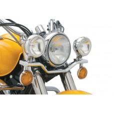 Дополнительные фары (лайтбар) V-Star 1100 Classic 99-09 BULLET STYLE