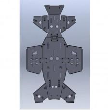 Комплект алюминиевой защиты 4мм Yamaha Grizzly 700/550