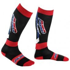 Носки для мотоциклиста OFF ROAD, цвет Черный/Красный