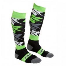 Носки для мотоциклиста OFF ROAD, цвет Черный/Зеленый