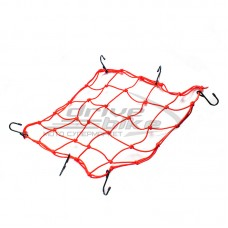 Багажная сетка 38x38 см, 6 крючков, цвет Красный