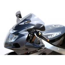 "Ветровое стекло для мотоцикла Racing ""R"" GSX-R1000 01-02, GSX-R750 00-03, GSX-R600 01-03, цвет Серый"