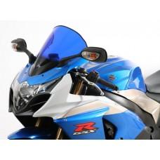 """Ветровое стекло для мотоцикла Racing """"R"""" GSX-R1000 (WVCY) 09-, цвет Серый"""