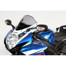 """Ветровое стекло для мотоцикла Racing """"R"""" GSX-R600 / GSX-R750 11-, цвет Серый"""