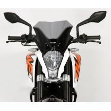 """Ветровое стекло для мотоцикла Racing """"R"""" KTM Duke 125 / 200 / 390, цвет Черный"""
