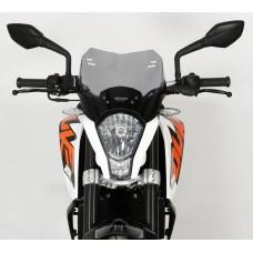 Ветровое стекло для мотоцикла Spoiler ''S'' KTM Duke 125 / 200 / 390, цвет Серый
