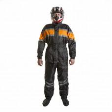 Дождевик (куртка+брюки), цвет Черный/Оранжевый
