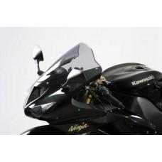 """Ветровое стекло для мотоцикла Racing """"R"""" ZX-10R 06-07, ZX-6R (ZX636C/ZX600N) 05-08, цвет Серый"""