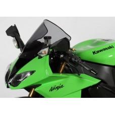 """Ветровое стекло для мотоцикла Racing """"R"""" ZX-10R 08-10 (ZXT00E) 08-10, ZX-6R (ZX600R) 09-, цвет Черный"""