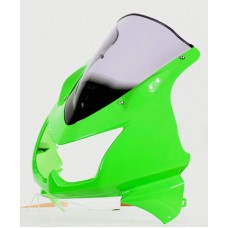 """Ветровое стекло для мотоцикла Racing """"R"""" ZX-250R 13-, ZX-300R 13-, цвет Серый"""