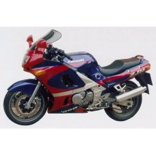 """Ветровое стекло для мотоцикла Touring """"T"""" ZZ-R600 (ZX600E) 93-03, ZZ-R400 93-03, цвет Серый"""
